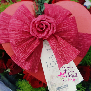 Hanoi heart chocolate box free delivery